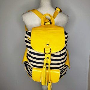 Poverty Flats Striped Canvas Tassel Pull Back Pack